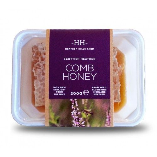Comb Honey: Scottish Heather 200g