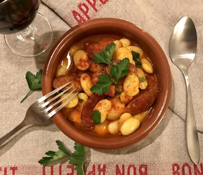 Chorizo and butter bean stew