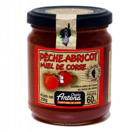 Jam: Peach and Apricot with Honey 250g