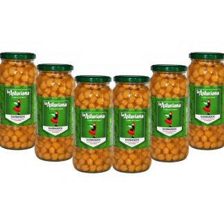 Spanish cooked chickpeas: Garbanzos 570g x6