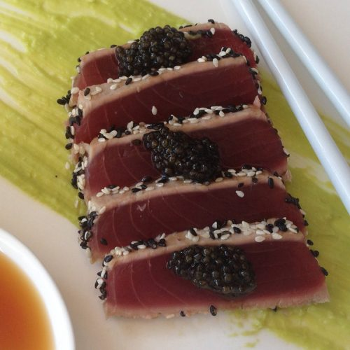 Sesame Seared Tuna and Caviar