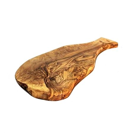 olive wood board with handle