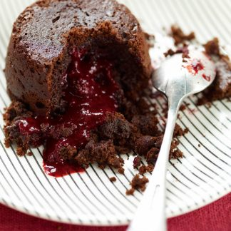 Chocolate and Blackberry Lava Cakes