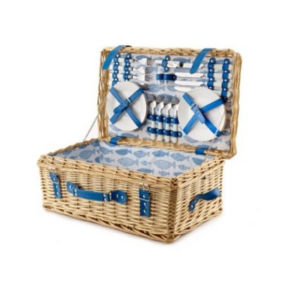 Picnic Hamper: 4 Person 'Ocean' Fitted Picnic