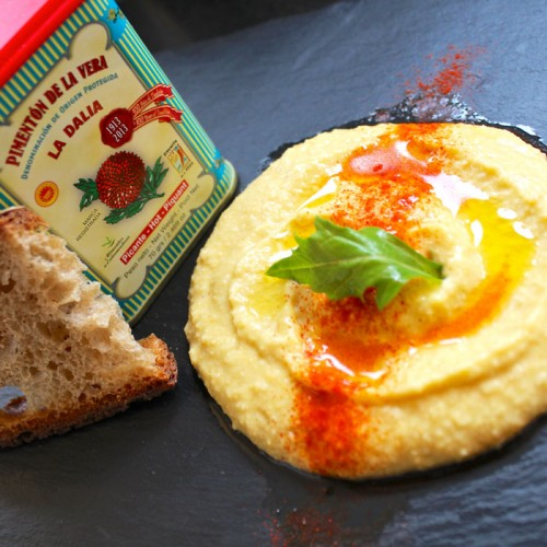 Homemade Hummus with Hot Spanish Smoked Paprika