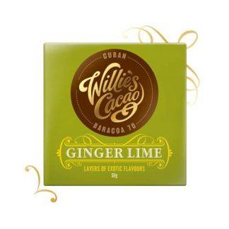 Willie's Sierra Leone Ginger & Lime chocolate 50g