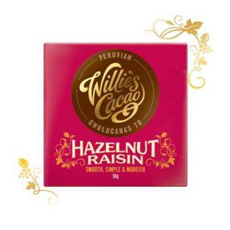 Willie's Peruvian Hazelnut & Raisin chocolate 50g