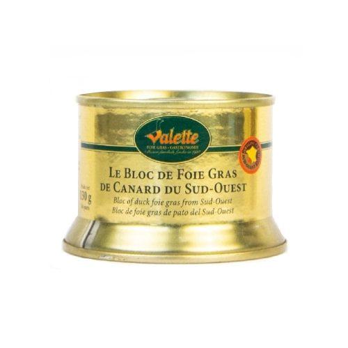 le bloc de foie gras de canard du sud-ouest