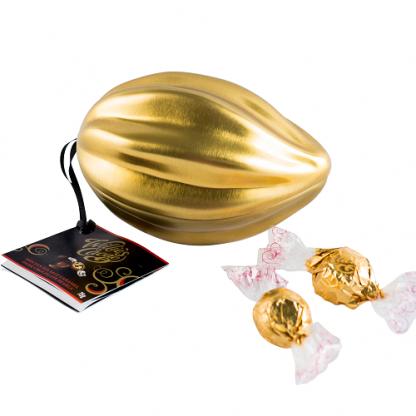 Willie's Cacao - The Original Golden Mini Pod - Molten Sea Salt Caramel Dark Chocolate Pearls 75g