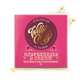 Willie's Raspberries & Cream Chocolate 50g