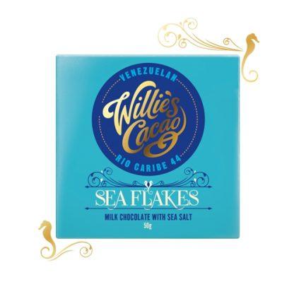 Willie's Sea Flakes, Milk Chocolate With Sea Salt 50g