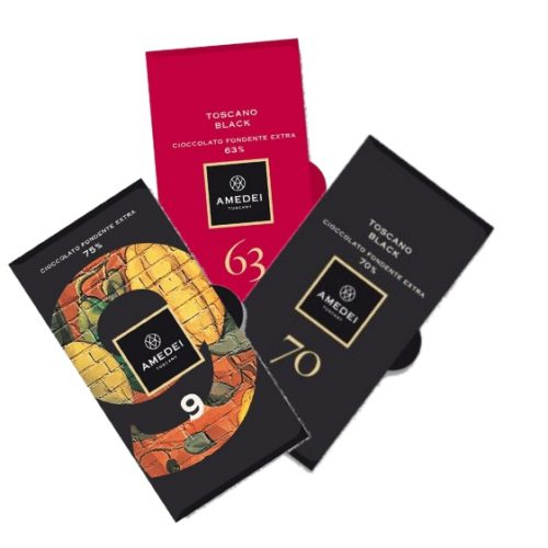 Amedei dark chocolate luxury selection, 3 bars - 150g