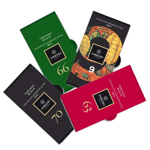 Amedei dark chocolate luxury selection, 4 bars - 200g