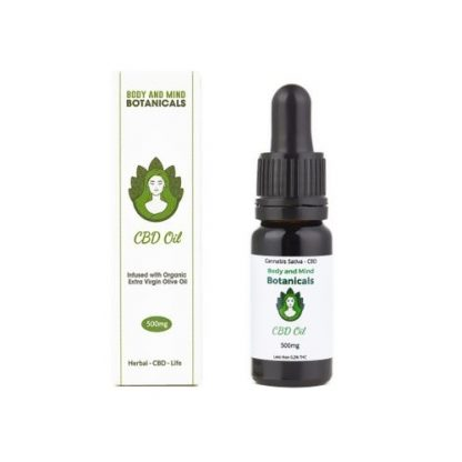 CBD Oil 500mg / 10ml infused with Organic Extra Virgin Olive Oil