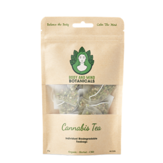 Cannabis Tea – 10 Bags/15g – 25-40mg CBDa Per Teabag