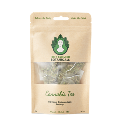 Cannabis Tea – 10 Bags/15g – 25-40mg CBDa Per Teabag
