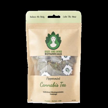 Cannabis & Peppermint Tea – 10 Bags/20g – 25-40mg CBDa Per Teabag