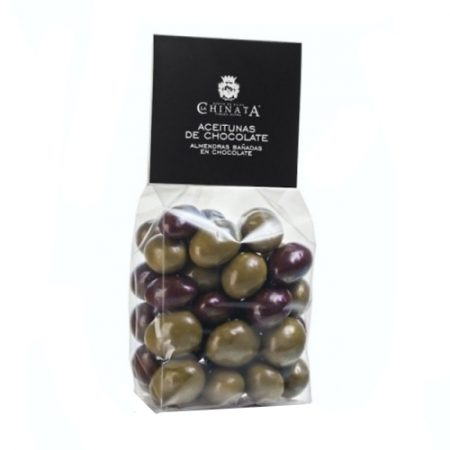 Olive-shaped chocolate covered almonds 150g