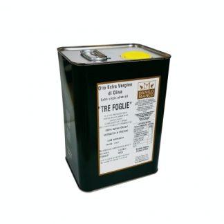 100% Italian Extra Virgin Olive Oil, Tre Foglie, 3L