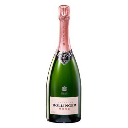 A bottle of Bollinger Rosé NV Champagne