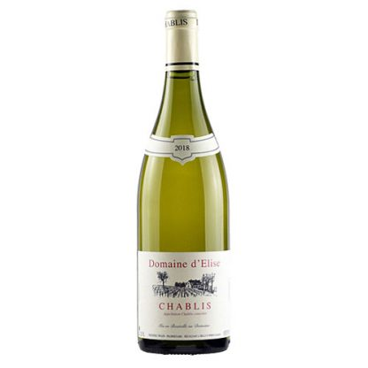 A bottle of Chablis, Domaine d'Elise from Burgundy in France