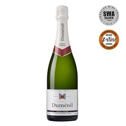 A bottle of Duménil Grande Reserve, Premier Cru NV Champagne