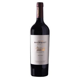 A bottle of Malbec Reserve, Domaine Bousquet from Mendoza in Argentina