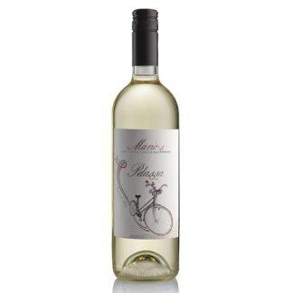 A bottle of Mario's Bianco Pelassa from Piedmont in Italy