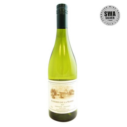 A bottle of Marsanne-Viognier, Chemin de la Serre from the Languedoc in France