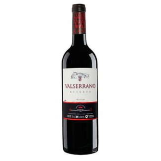 A bottle of Rioja Reserva Valserrano from Spain