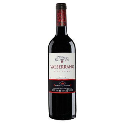 A bottle of Rioja Reserva Valserrano from Spain