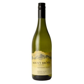 A bottle of Sauvignon Blanc, Mount Brown from Waipara in New Zealand