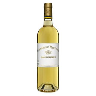 A bottle of sweet wine - Carmes de Rieussec from Sauternes in France
