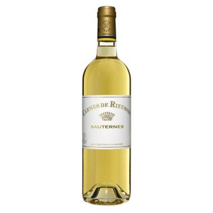 A bottle of sweet wine - Carmes de Rieussec from Sauternes in France