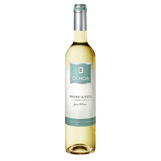 A bottle of sweet wine - Moscatel, Vendimia Tardia, Ochoa from Spain