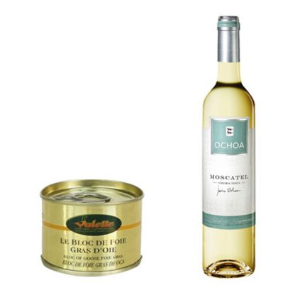 Sweet Moscatel and Block of Goose Foie Gras