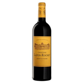 A bottle of Chateau Lafon-Rochet 2010 from Saint-Estèphe, Bordeaux