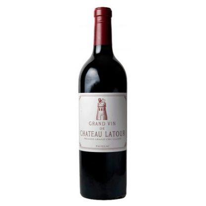 A bottle of Chateau Latour 1999, Pauillac, Bordeaux.