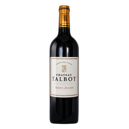 A bottle of Chateau Talbot 2001 from St Julian, Bordeaux