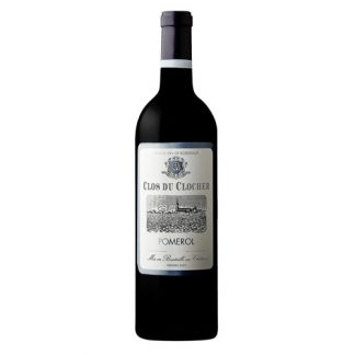 A bottle of Clos du Clocher 2015 from Pomerol, France.