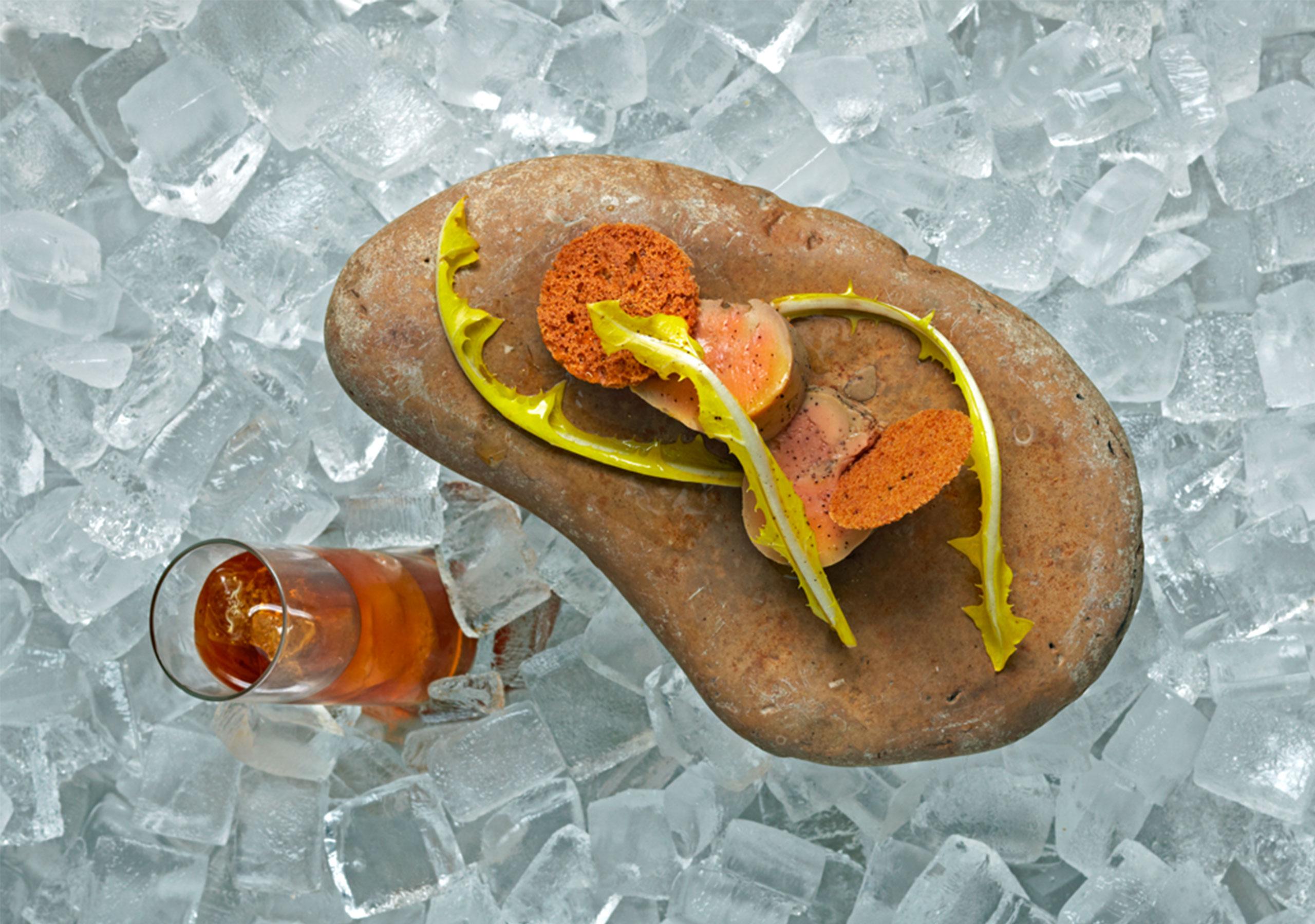 Foie Gras on the Rocks