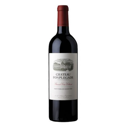 A bottle of Chateau Fonplegade 2014 from Bordeaux, France