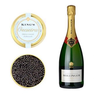 Oscietra Caviar and a bottle of Bollinger Special Cuvée