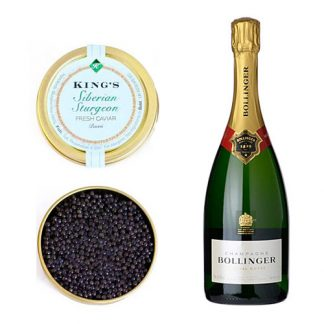 Siberian Caviar with a bottle of Bollinger Special Cuvée
