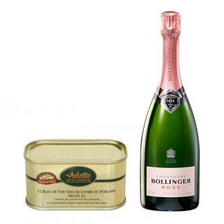 Bollinger Rose with a Block of Duck Foie Gras With Périgord Truffle
