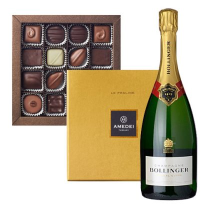 Champagne and Chocolate Selection - Bollinger Special Cuvée with Amedei Le Praline 16