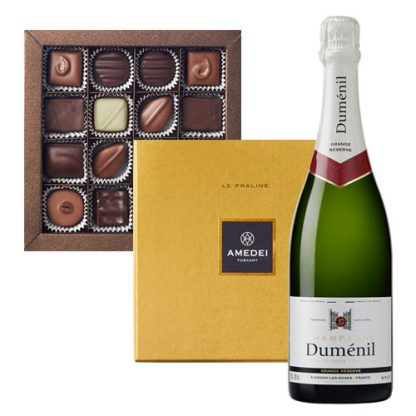 Premier Cru Champagne and Chocolate Praline Selection Amedei 16