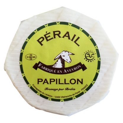 Perail Papillon is a soft sheep cheese from Normandy, France