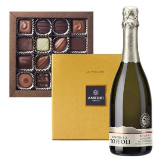 Prosecco and Chocolate Praline Selection Amedei 16