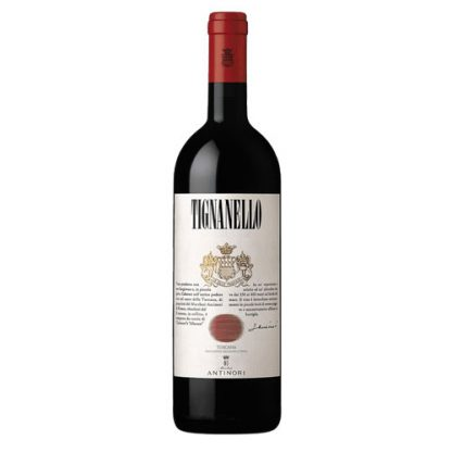 A bottle of Tignanello Antinori 2014